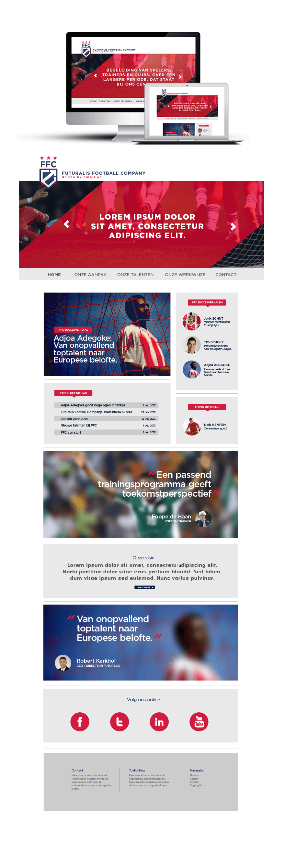 Futuralis Football Company webdesign website