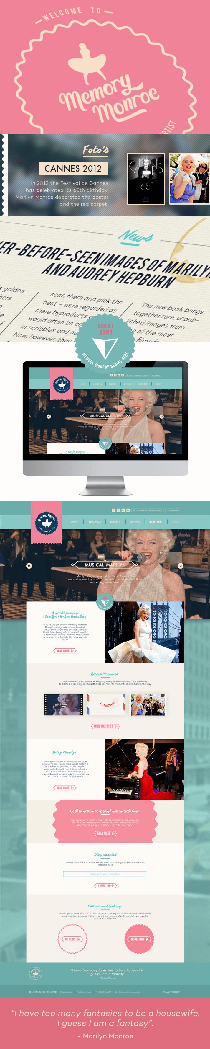 Memory Monroe webdesign
